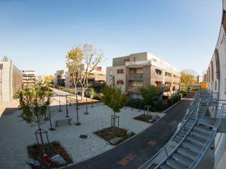 À Mulhouse, la végétation s'invite autour des nouvelles constructions.