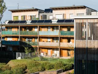 À Mulhouse, vue du quartier Wolf Wagner qui a été labellisé Éco-Quartier.