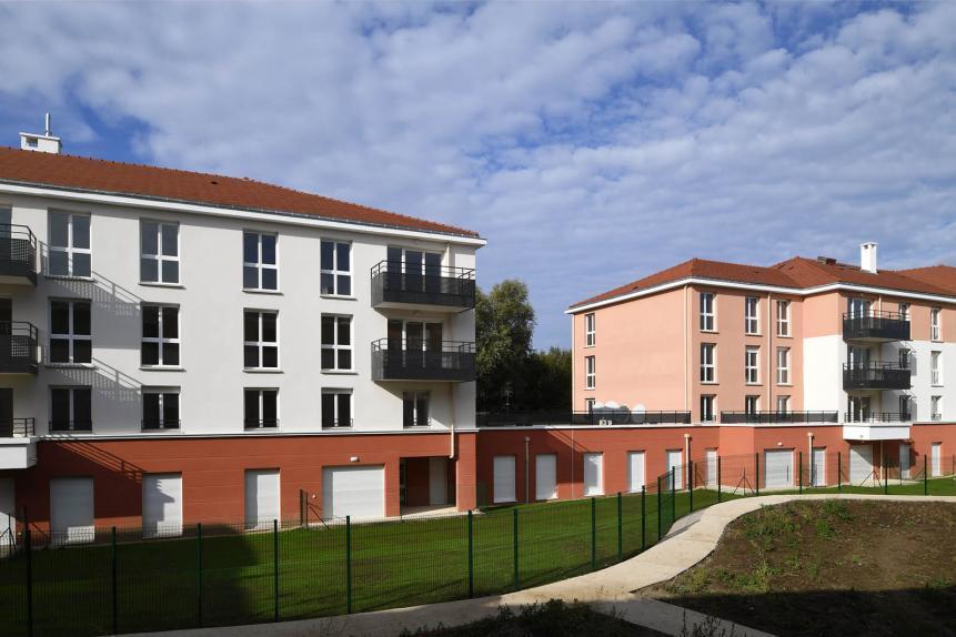 """La Résidence """"La Papèterie"""", située impasse Jean Guillaume Ecrevisse à Corbeil-Essonnes"""